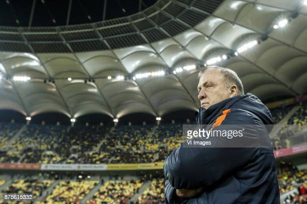 coach Dick Advocaat of Holland during the friendly match between Romania and The Netherlands on November 14 2017 at Arena National in Bucharest...