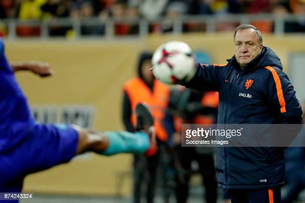 coach Dick Advocaat of Holland during the International Friendly match between Romania v Holland at the Arena Nationala on November 14 2017 in...