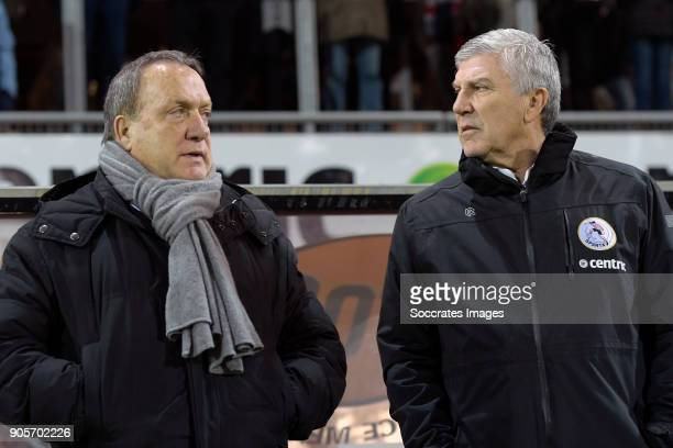coach Dick Advocaat of Sparta Rotterdam assistentcoach Cor Pot of Sparta Rotterdam during the Dutch Eredivisie match between Sparta v Vitesse at the...