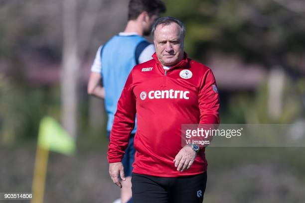 coach Dick Advocaat of Sparta Rotterdam during a training session of Sparta Rotterdam at the Sante Maria Polo Club on January 10 2018 in Sotogrande...