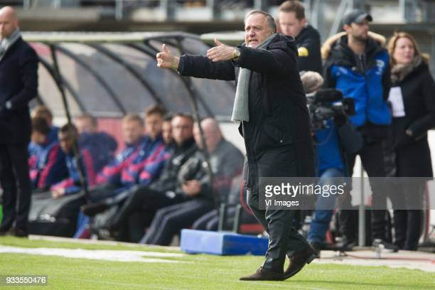 coach Dick Advocaat of Sparta Rotterdam during the Dutch Eredivisie match between Sparta Rotterdam and Ajax Amsterdam at the Sparta stadium Het...