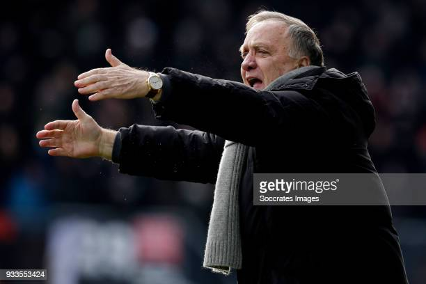coach Dick Advocaat of Sparta Rotterdam during the Dutch Eredivisie match between Sparta v Ajax at the Sparta Stadium Het Kasteel on March 18 2018 in...
