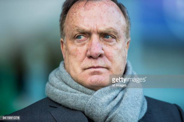 coach Dick Advocaat of Sparta Rotterdam during the Dutch Eredivisie match between PEC Zwolle and Sparta Rotterdam at the MAC3Park stadium on March 31...