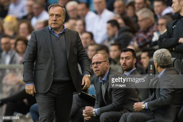 coach Dick Advocaat of Sparta Rotterdam during the Dutch Eredivisie match between Vitesse Arnhem and Sparta Rotterdam at Gelredome on April 14 2018...