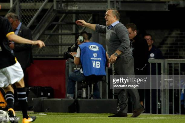 coach Dick Advocaat of Sparta Rotterdam during the Dutch Eredivisie match between Sparta v NAC Breda at the Sparta Stadium Het Kasteel on April 18...