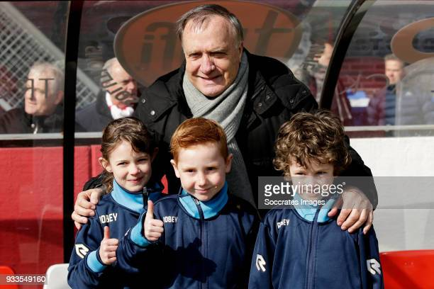 coach Dick Advocaat of Sparta Rotterdam with supporters during the Dutch Eredivisie match between Sparta v Ajax at the Sparta Stadium Het Kasteel on...