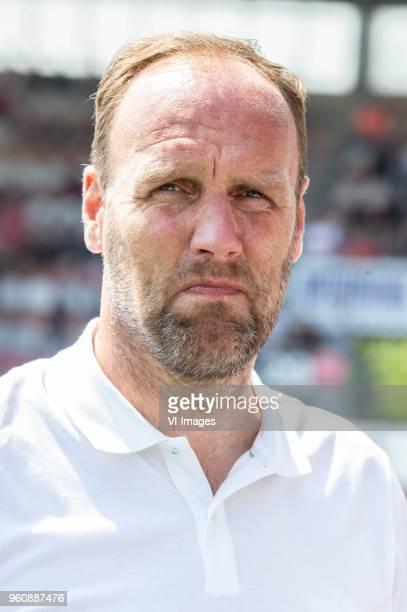 coach Dick Lukkien of FC Emmen during the Dutch Jupiler League playoffs final match between Sparta Rotterdam and FC Emmen at the Sparta stadium Het...