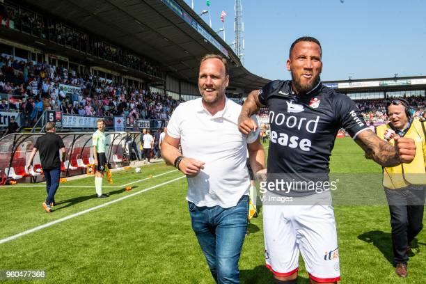 coach Dick Lukkien of FC Emmen Josimar Lima of FC Emmen during the Dutch Jupiler League playoffs final match between Sparta Rotterdam and FC Emmen at...