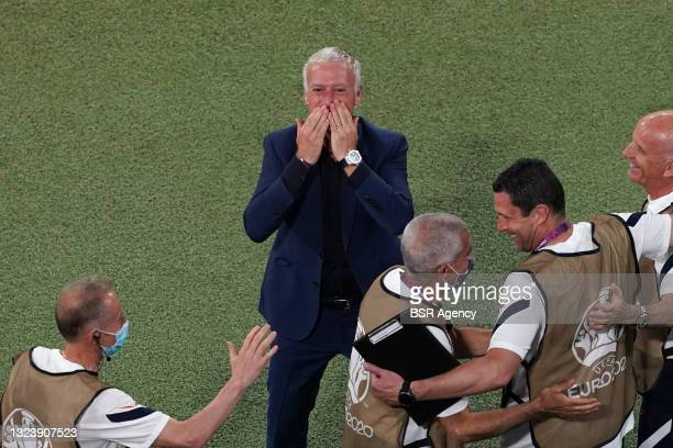 Coach Didier Deschamps celebrating during the UEFA Euro 2020 match between France and Germany at Allianz Arena on June 15, 2021 in Munich, Germany