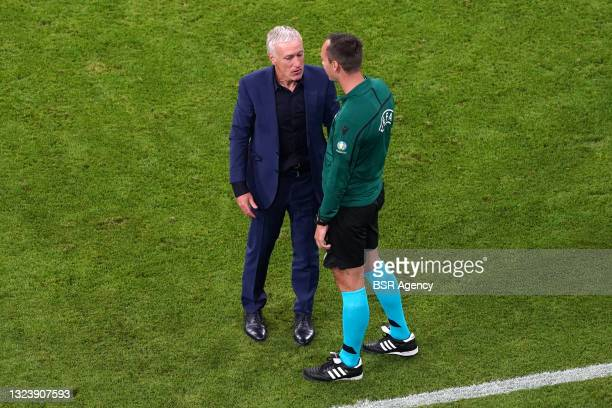Coach Didier Deschamps during the UEFA Euro 2020 match between France and Germany at Allianz Arena on June 15, 2021 in Munich, Germany