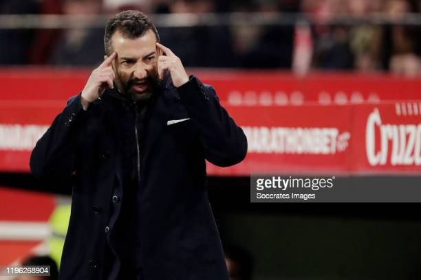 coach Diego Martinez Penas of Malaga CF during the La Liga Santander match between Sevilla v Granada at the Estadio Ramon Sanchez Pizjuan on January...