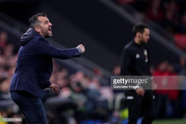 coach Diego Martinez Penas of Malaga CF during the Spanish Copa del Rey match between Athletic de Bilbao v Granada at the Estadio San Mames on...
