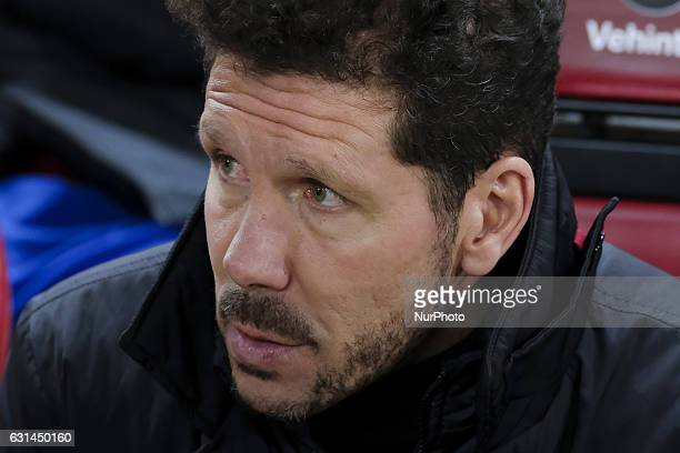 Coach Diego Pablo Simeone of Atletico de Madrid during the match between Atletico de Madrid vs Las Palmas their King's Cup round of 16 second leg...