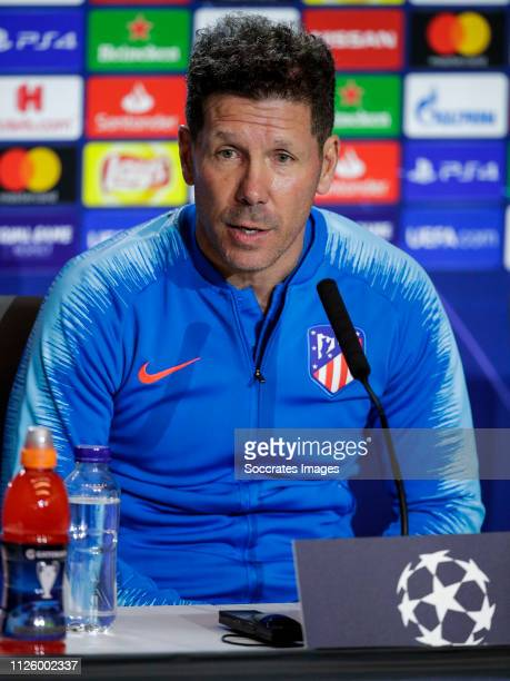 coach Diego Simeone of Atletico Madrid during the Press Conference Atletico Madrid on February 19 2019