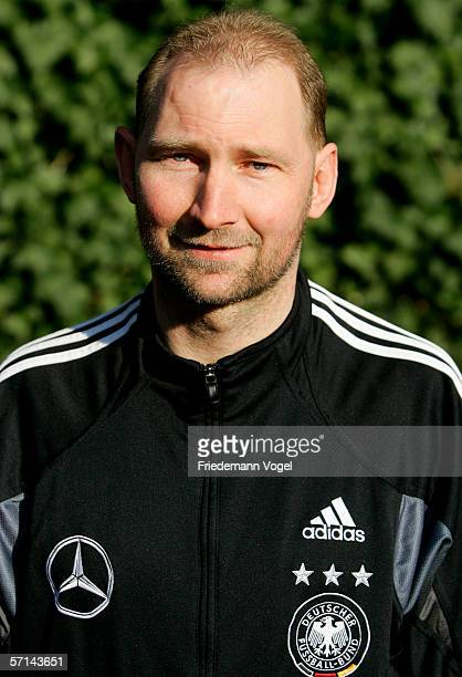 Coach Dieter Eilts during the photo call of the German Under 21 National Team on March 20 2006 in Delbruck Germany