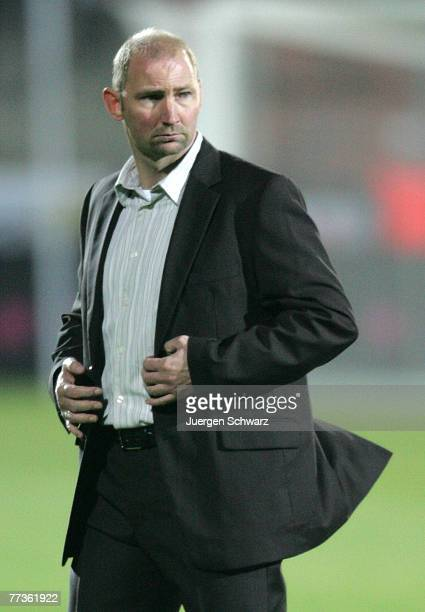 Coach Dieter Eilts of Germany walks on the pitch before the U21 Euro 2009 qualifier between Germany and Moldavia at the Husterhoehe stadium on...