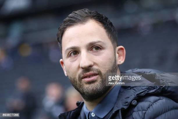 Coach Domenico Tedesco of Schalke before the Bundesliga match between Eintracht Frankfurt and FC Schalke 04 at CommerzbankArena on December 16 2017...