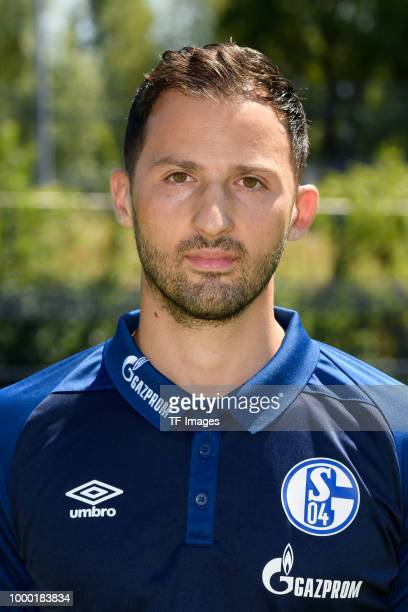 Omar Mascarell of Schalke poses during the team presentation on July 16 2018 in Gelsenkirchen Germany