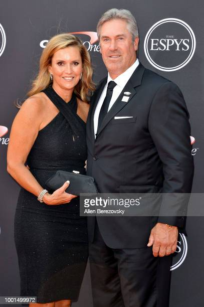 NFL coach Doug Pederson and Jeannie Pederson attend The 2018 ESPYS at Microsoft Theater on July 18 2018 in Los Angeles California