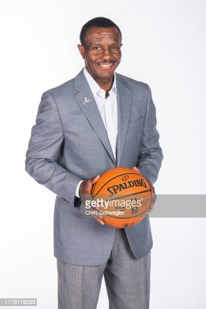Coach Dwane Casey of the Detroit Pistons poses for a portrait during the Detroit Pistons Media Day at Pistons Practice Facility on September 30, 2019...