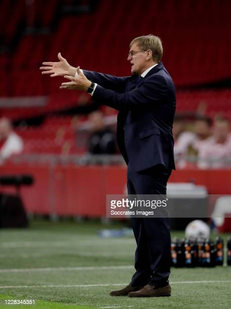 Coach Dwight Lodeweges of Holland during the UEFA Nations league match between Holland v Poland at the Johan Cruijff ArenA on September 4, 2020 in...