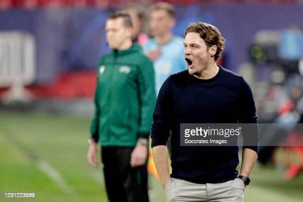 Coach Edin Terzic of Borussia Dortmund during the UEFA Champions League match between Sevilla v Borussia Dortmund at the Estadio Ramon Sanchez...