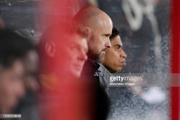 Coach Erik ten Hag of Ajax during the Dutch KNVB Beker match between FC Utrecht v Ajax at the Stadium Galgenwaard on March 4 2020 in Utrecht...