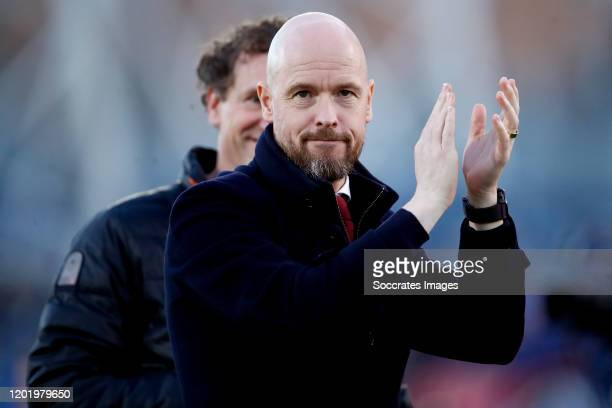 coach Erik ten Hag of Ajax during the UEFA Europa League match between Getafe v Ajax at the Coliseum Alfonso Perez on February 20 2020 in Getafte...