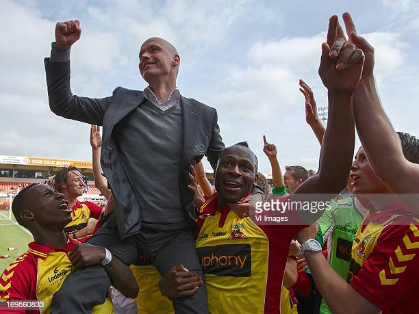 coach Erik ten Hag of Go Ahead Eagles During the Promotion / relegation match between FC Volendam and Go Ahead Eagles at Kras stadium on May 26 2013...