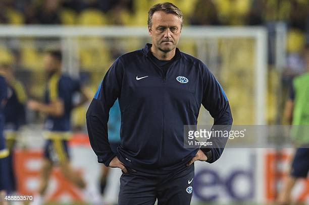 Coach Erling More of Molde FK during the UEFA Europa League match between Fenerbahce SK v Molde FK on September 17, 2015 at the Sukru Saracoglu...