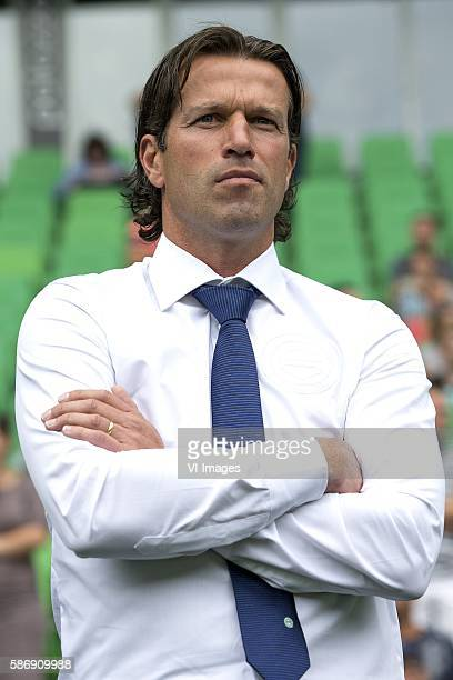coach Ernest Faber during the Dutch Eredivisie match between FC Groningen and Feyenoord at Noordlease stadium on august 7 2016 in Groningen the...