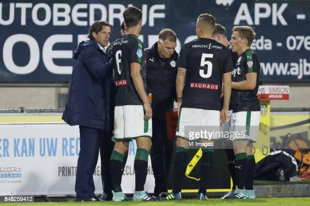 coach Ernest Faber of FC Groningen assistant trainer Marcel Groninger of FC Groningen Etienne Reijnen of FC Groningen Samir Memisevic of FC Groningen...