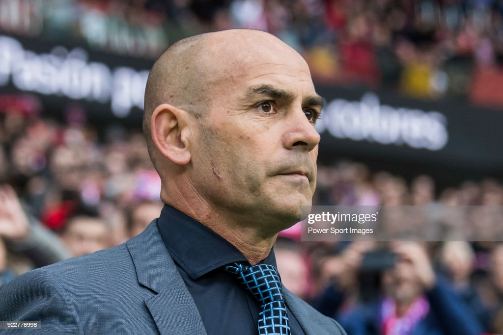 Coach Francisco Jemez Martin, Paco Jemez, of UD Las Palmas prior to the La Liga 2017-18 match between Atletico de Madrid and UD Las Palmas at Wanda Metropolitano on January 28 2018 in Madrid, Spain.