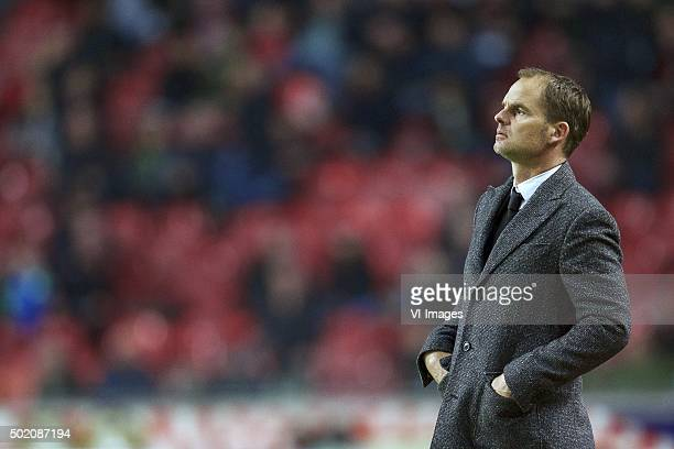 coach Frank de Boer of Ajax during the Dutch Eredivisie match between Ajax Amsterdam and De Graafschap at the Amsterdam Arena on December 20 2015 in...