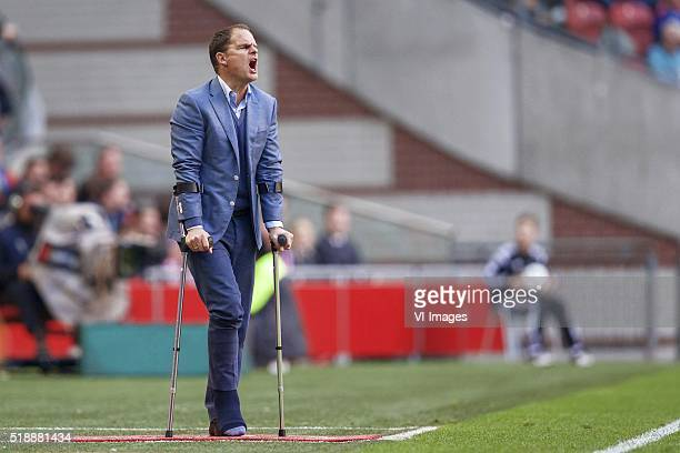coach Frank de Boer of Ajax during the Dutch Eredivisie match between Ajax Amsterdam and PEC Zwolle at the Amsterdam Arena on April 2016 in Amsterdam...