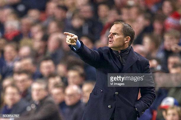 coach Frank de Boer of Ajax during the UEFA Europa League match between Ajax Amsterdam and Molde FK on December 10 2015 at the Amsterdam Arena at...