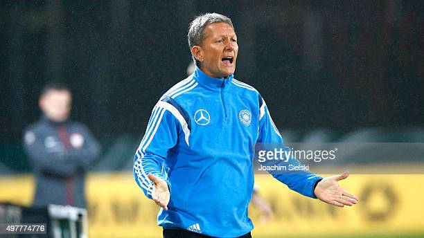 Coach Frank Wormuth of Germany at Preussenstadion on November 16 2015 in Muenster Germany