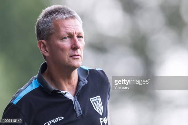 coach Frank Wormuth of Heracles Almelo during the Preseason Friendly match between Heracles Almelo and Fiorentina at Sportpark Wiesel on August 01...