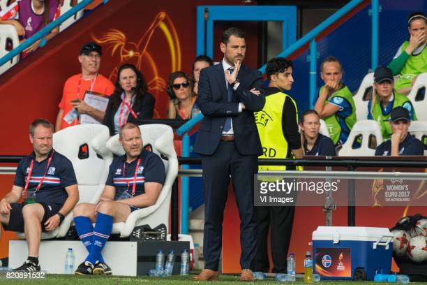 coach Freyr Alexandersson of Iceland women during the UEFA WEURO 2017 Group C group stage match between Iceland and Switzerland at the Vijverberg...