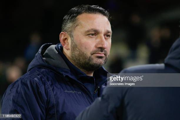 Coach Fuat Usta of MVV during the Dutch Keuken Kampioen Divisie match between NAC Breda v MVV Maastricht at the Rat Verlegh Stadium on November 29,...