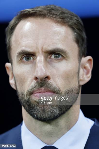 coach Gareth Southgate of England during the 2018 FIFA World Cup Russia Semi Final match between Croatia and England at the Luzhniki Stadium on July...