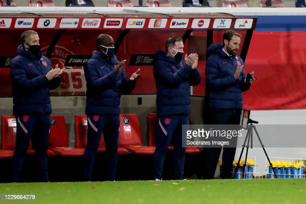 Coach Gareth Southgate of England during the UEFA Nations league match between Belgium v England at the King Baudouin Stadium on November 15, 2020 in...