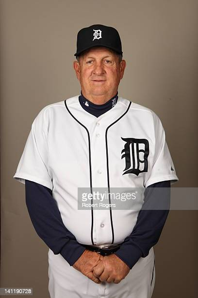 Coach Gene Lamont of the Detroit Tigers poses during Photo Day on Tuesday February 28 2012 at Joker Marchant Stadium in Lakeland Florida