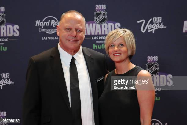 Coach Gerard Gallant of the Vegas Golden Knights arrives with his wife Pam to the 2018 NHL Awards presented by Hulu at the Hard Rock Hotel Casino on...