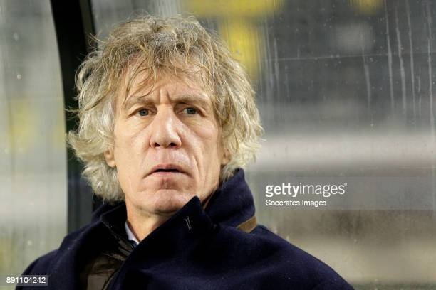 coach Gertjan Verbeek of FC Twente during the Dutch Eredivisie match between NAC Breda v Fc Twente at the Rat Verlegh Stadium on December 12 2017 in...