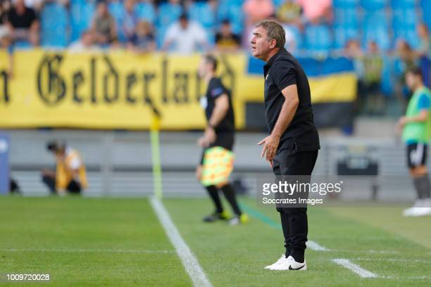 coach Gheorghe Hagi of FC Viitorul during the UEFA Europa League match between Vitesse v FC Viitorul Constanta at the GelreDome on August 2 2018 in...