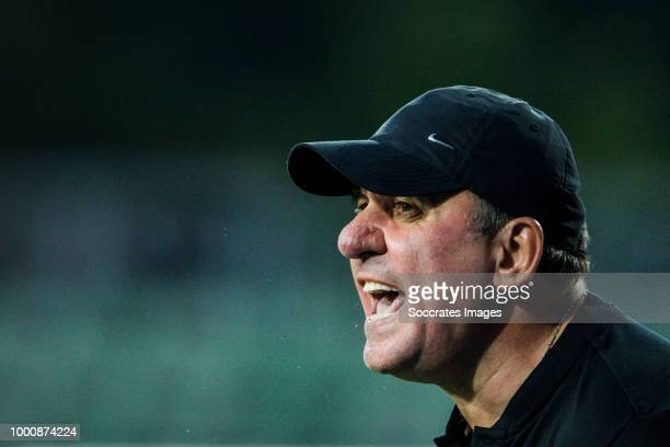 Coach Gheorghe Hagi of Viitorul during the match between Racing FC Union Luxembourg v FC Viitorul Constanta at the Stade Josy Barthel on July 12 2018...