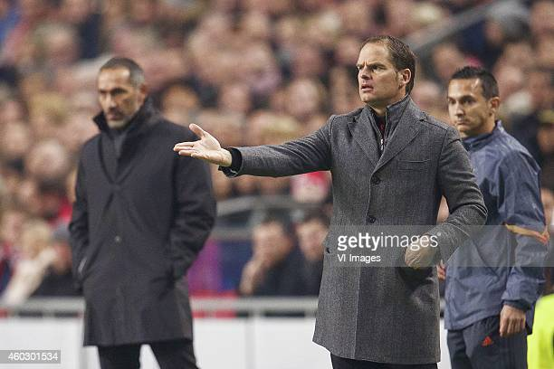 coach Giorgos Donis of Apoel FC coach Frank de Boer of Ajax during the UEFA Champions League group F match between Ajax Amsterdam and Apoel Nicosia...