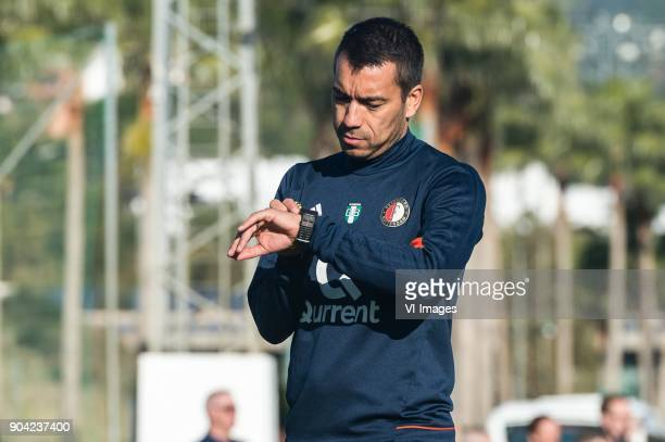 coach Giovanni van Bronckhorst during a training session of Feyenoord Rotterdam at the Marbella Football Center on January 12 2018 in Marbella Spain