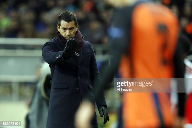 coach Giovanni van Bronckhorst during the UEFA Champions League group F match between Shakhtar Donetsk and Feyenoord Rotterdam at Metalist Stadium on...